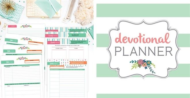 picture about Printable Devotions called Bible Investigation / Devotional Planner Printable Fastened every day