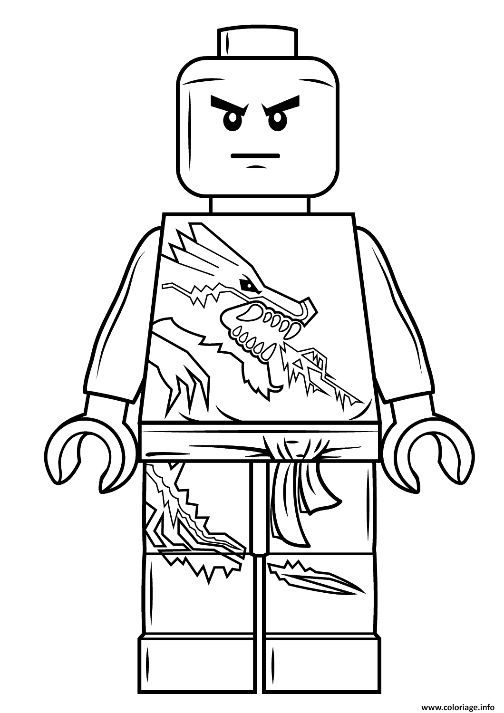 coloriage lego ninjago zane à imprimer  coloriage lego