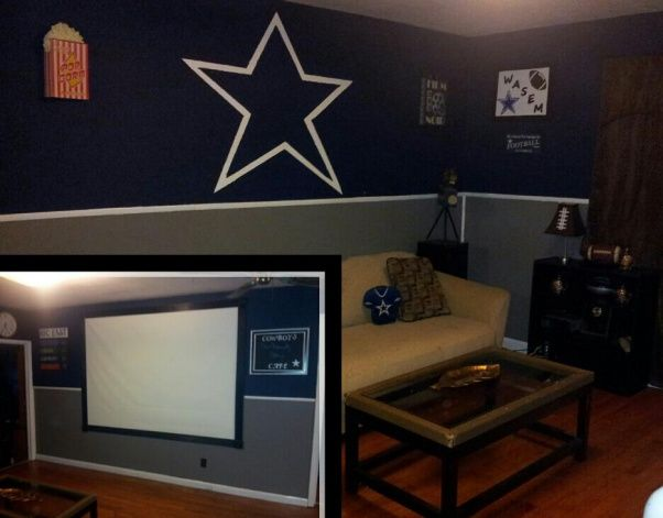 Dallas cowboys theme bedroom paint job master bedroom for Cowboy themed bedroom ideas