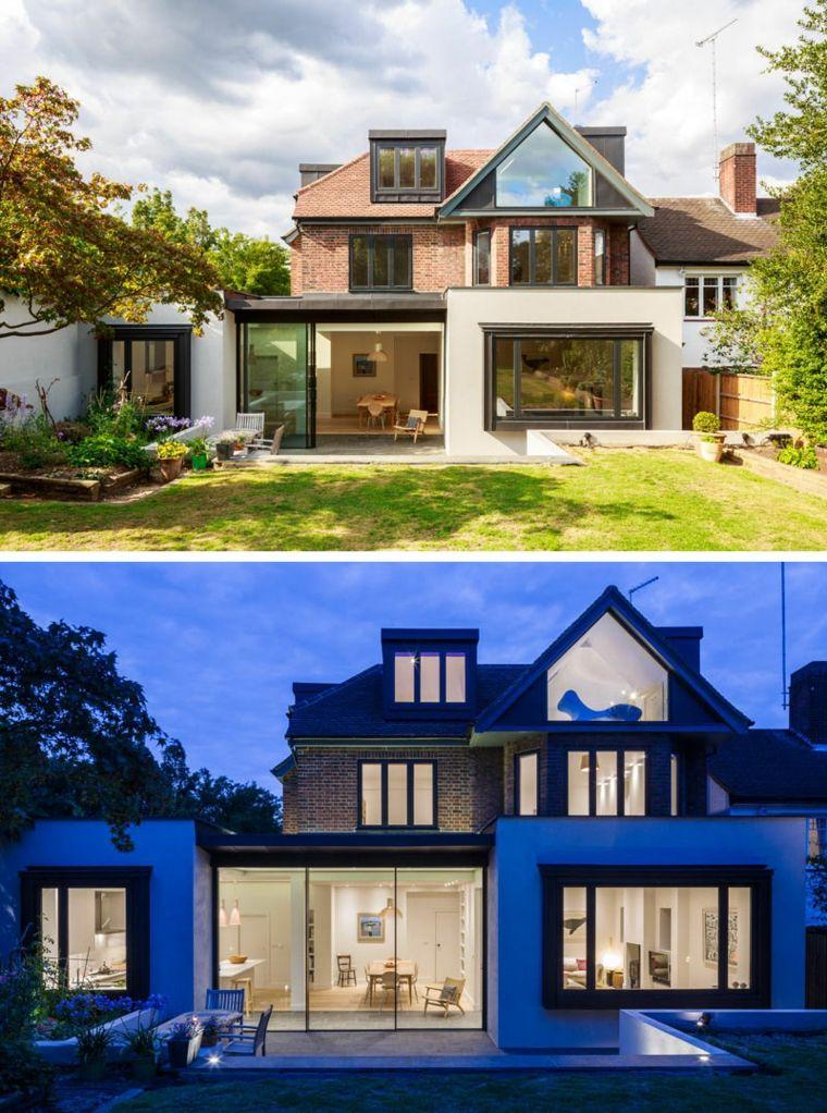 Maisons britanniques modernes avec des extensions contemporaines - faire une extension de maison