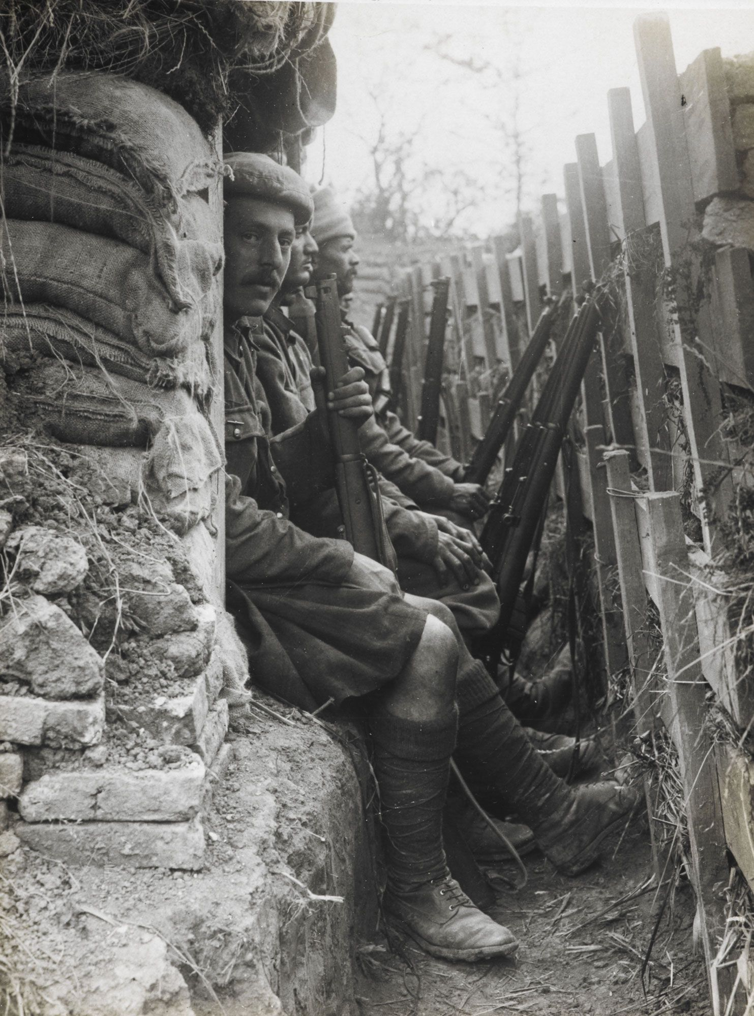 An analysis of the trench warfare in the world war one