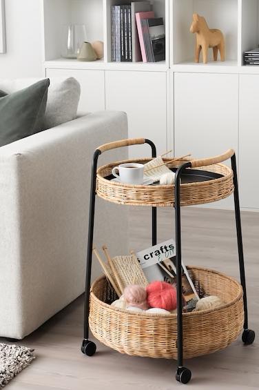 Lubban Rolltisch Mit Aufbewahrung Rattan Anthrazit Ikea Deutschland Rolltisch Tumblr Zimmer Gestalten Einfaches Wohndekor