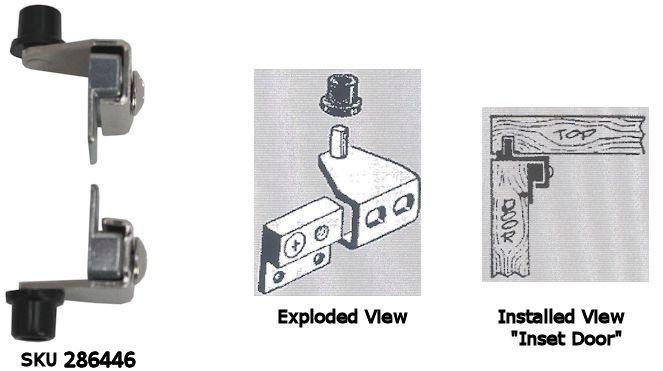 Small Pivot Hinge For Inset Doors Hardwaresource Doors Hinges Inset
