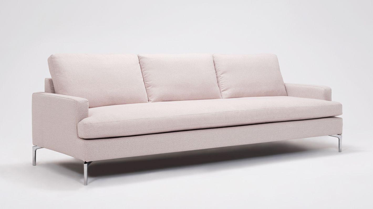 EQ3 | Eve Grand Sofa   Fabric In Coda Concrete