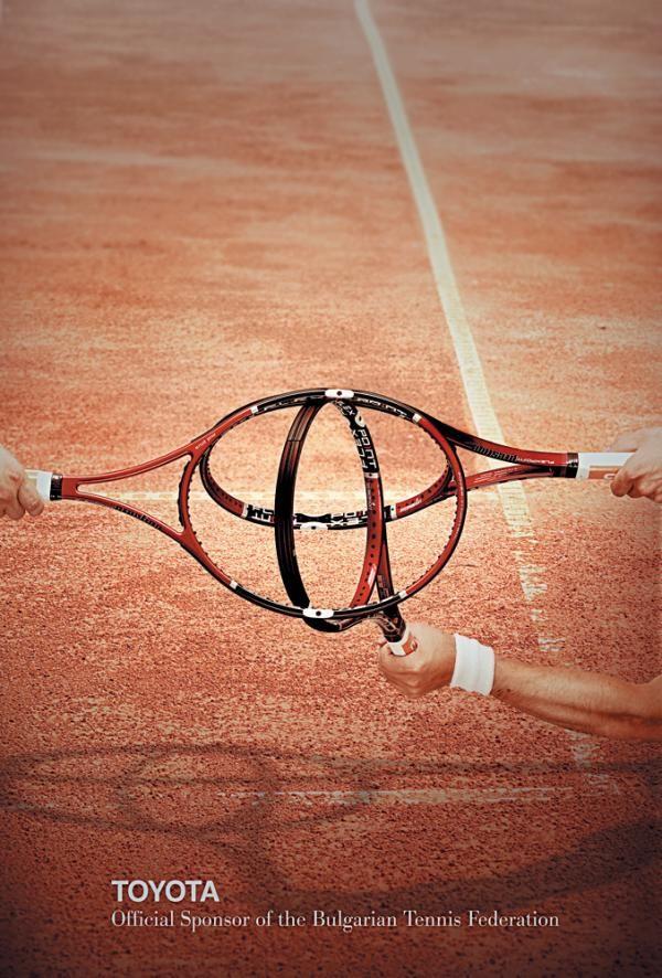 ¿Podéis adivinar qué logo están formando estas raquetas de tenis?