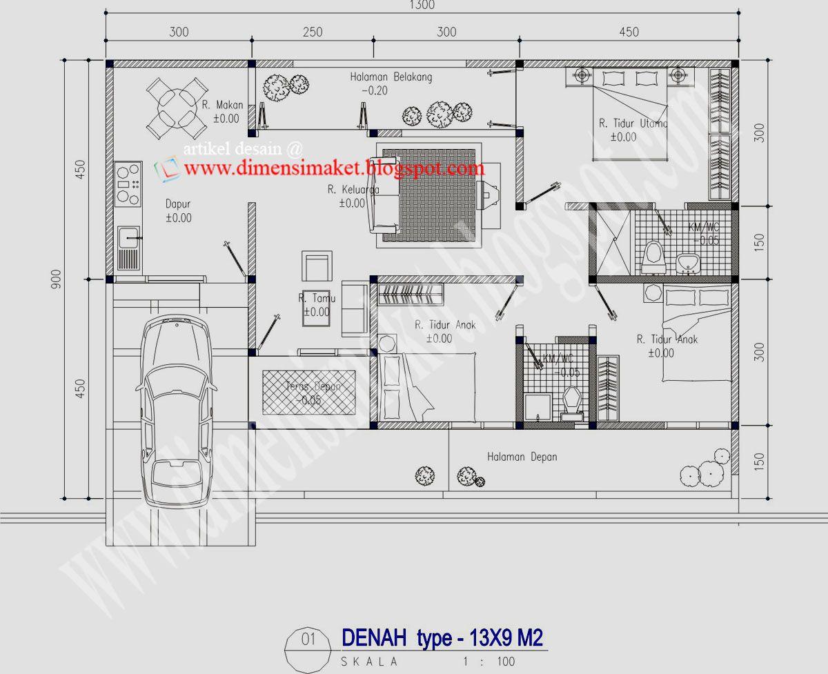 Desain Rumah Toko 1 Lantai