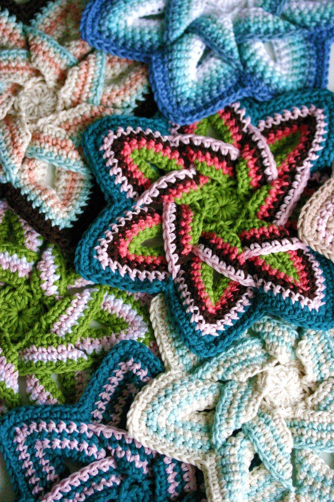 Crochet Flower Hot Pad By FreeCraft Unlimited - Free Crochet Pattern ...