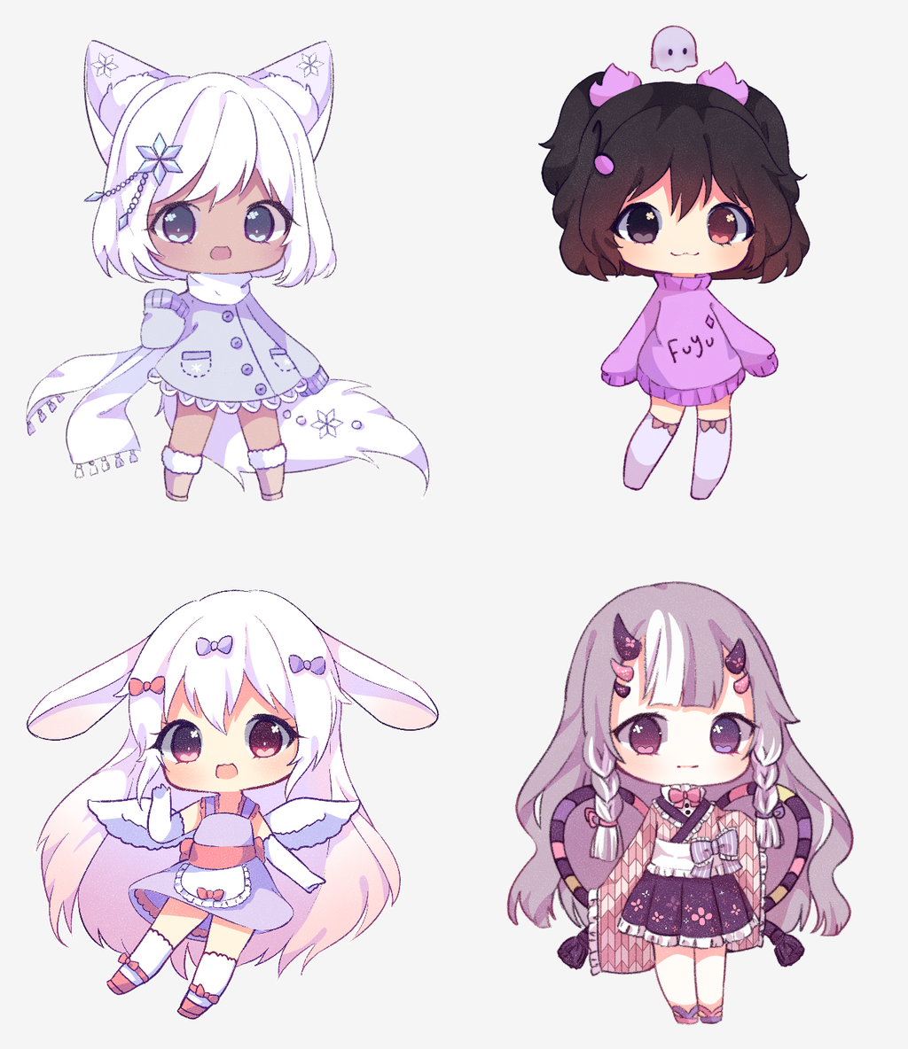 Christmas Requests Batch By Antay6009 Cute Anime Chibi Anime Character Design Kawaii Chibi