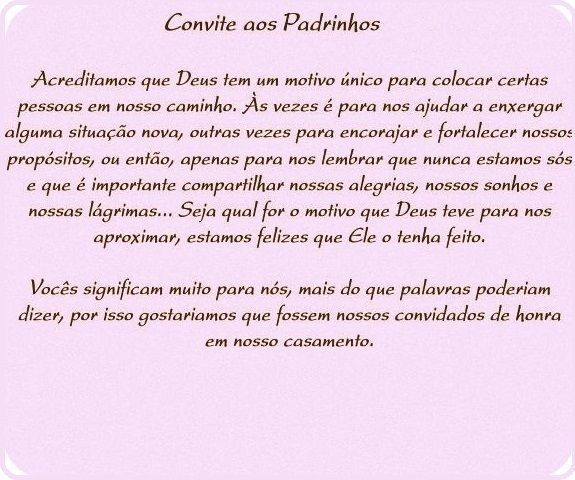 Caixa Convite Padrinhos De Casamento Pesquisa Google Textos Em
