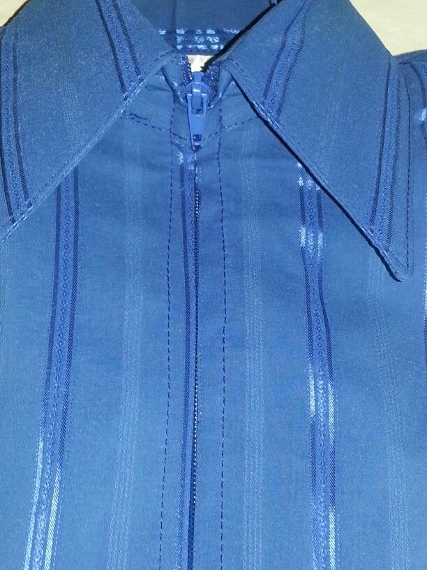 Show Diva Designs new dark royal blue tone on tone pinstripe plain fitted shirt