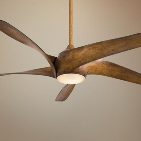 "Possible ceiling fan - looks like a 20's propeller.  Love the fan but not sure if it fits the vernacular of the house. 62"" Artemis XL5 Distressed Koa Ceiling Fan"