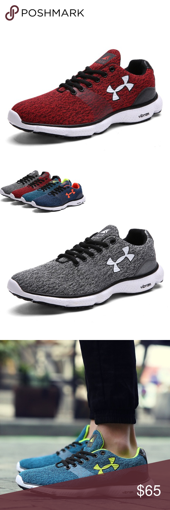 Under armor vibram shoes VARIOUS SIZES AND COLORS. MAKE SURE TO CHECK THE SIZING  CHART