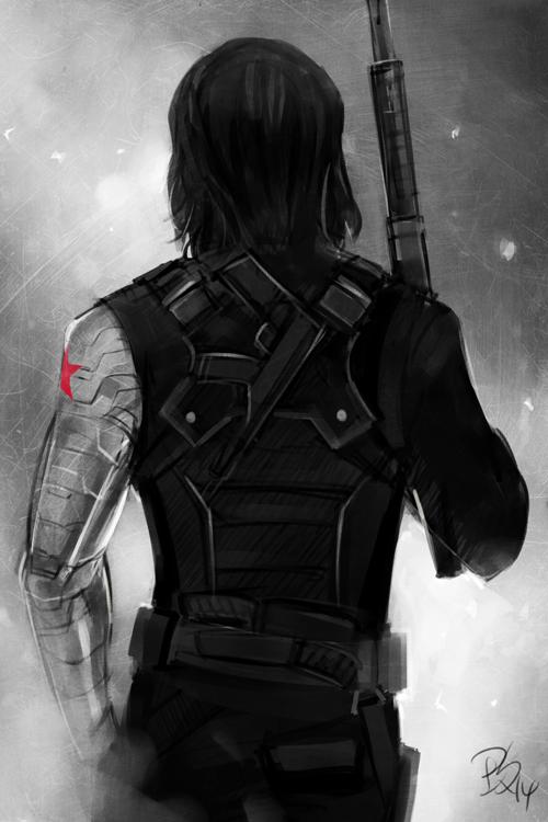 Winter Soldier Art | My Art: Fanart Winter Soldier Captain America: The Winter  Soldier .