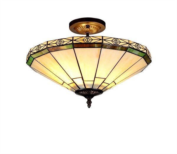 Chloe Belle Tiffany Style Mission 2 Light Semi Flush Ceiling Fixture 16