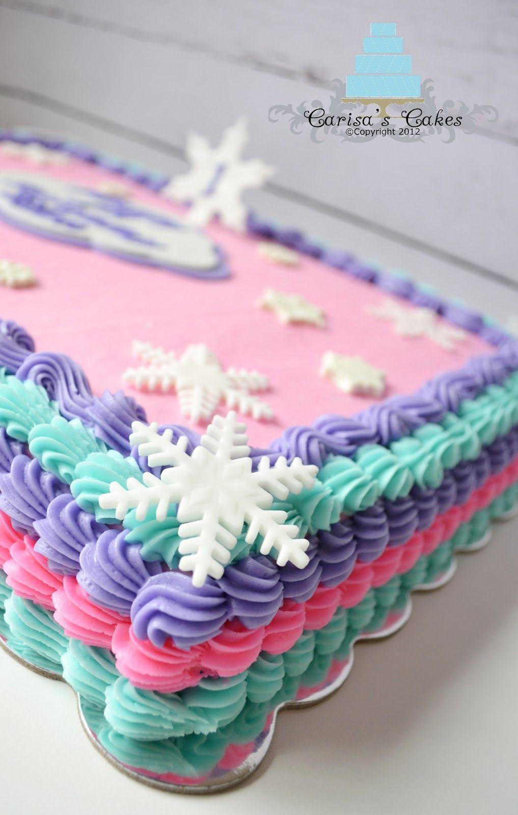 Frozen inspired cake for a little girl and her dad that share the