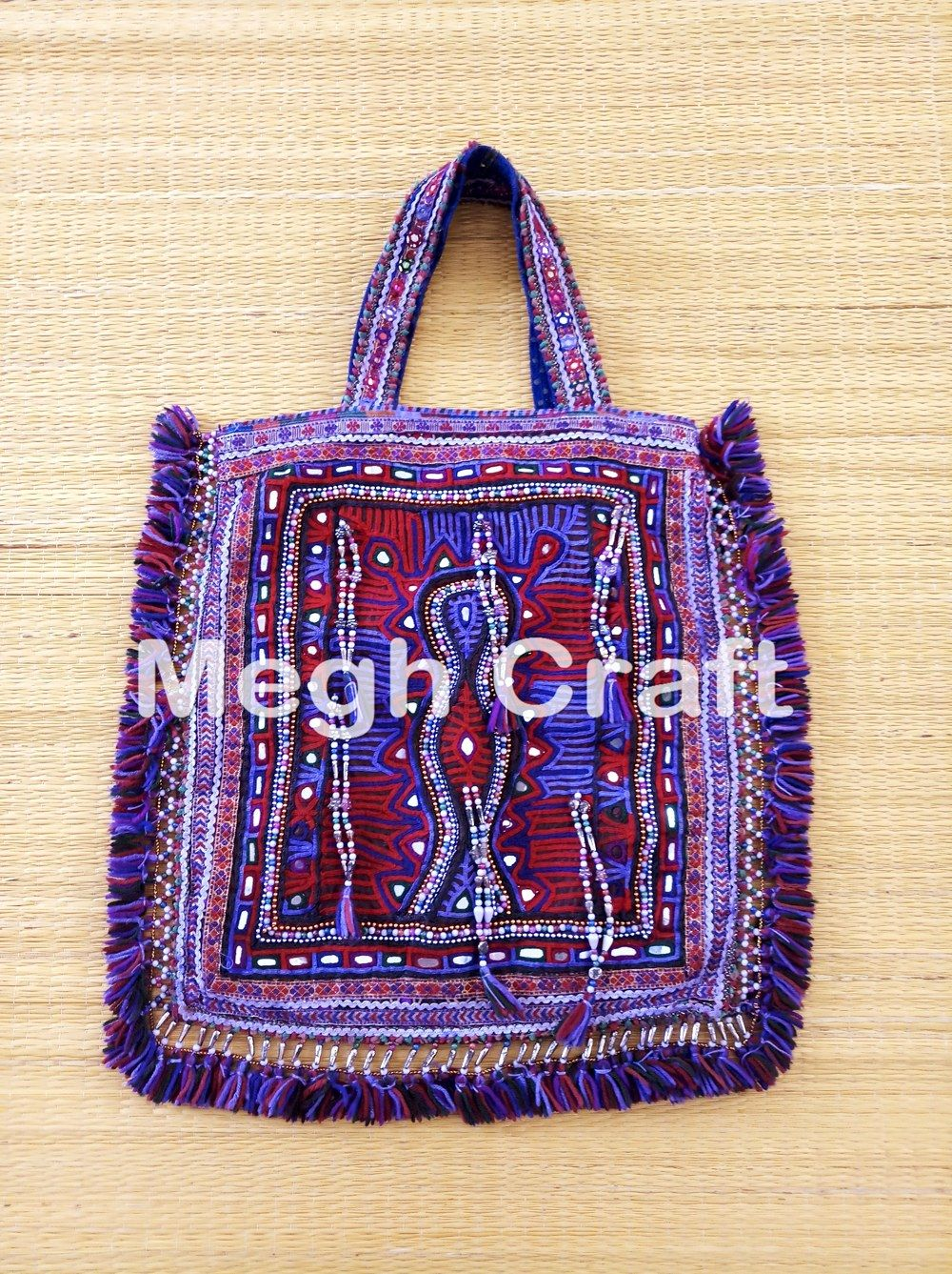 6518e6ccf82a Indian Traditional Theli Bag - Vintage Mirror work Handmade Theli Bag- Vintage  Mirror Work Tote