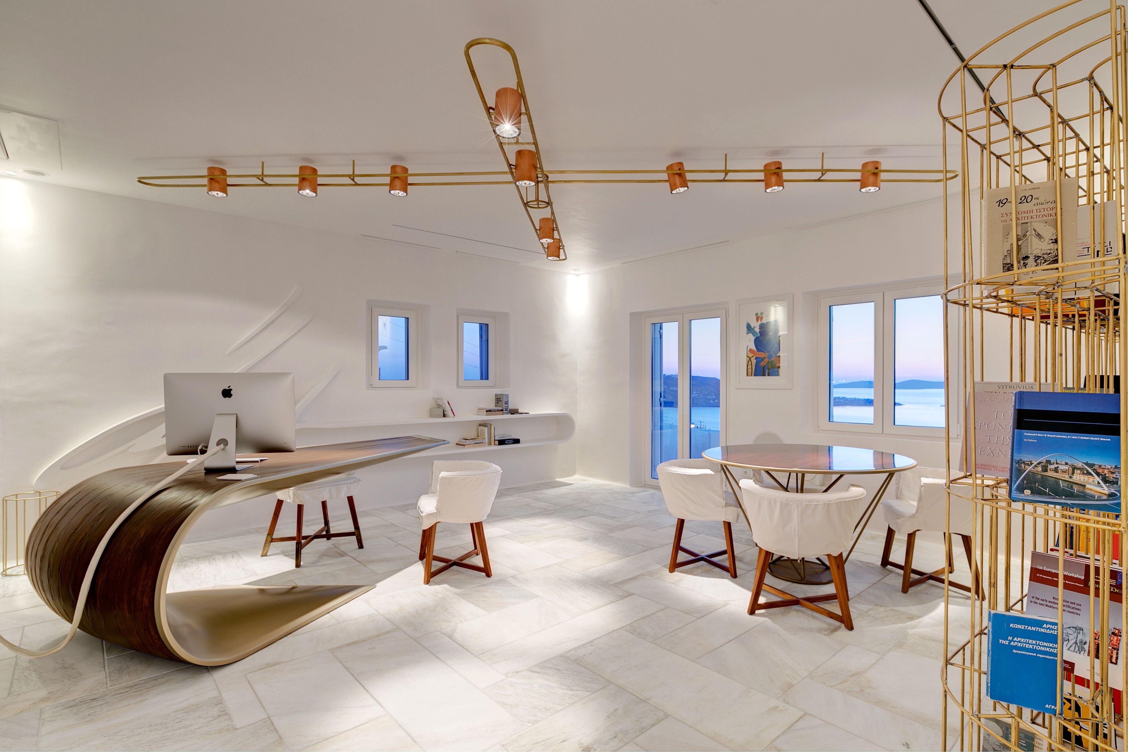 Mykonos Office Design Eleftherios Ambatzis Structural Engineer Spyridon Apostolou Design Home Decor Public Architecture