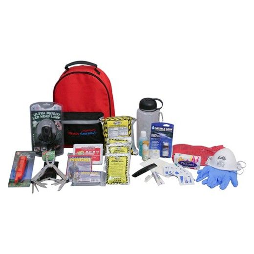 Ready America 1 Person 3 Day Deluxe Emergency Backpack : Target