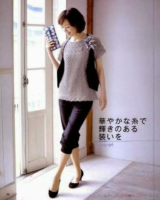 Crochet Wonders: blouses of Verão_Modelo Japanese
