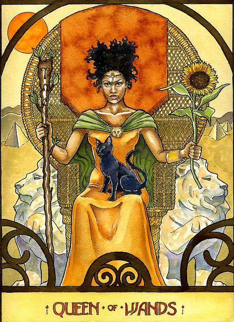 Kujutiste tulemus päringule queen of wands