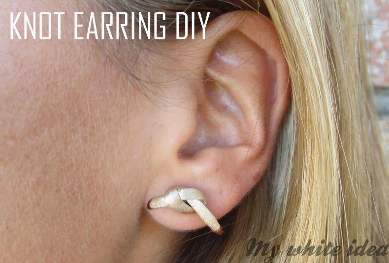 KNOT EARRING DIY | MY WHITE IDEA DIY