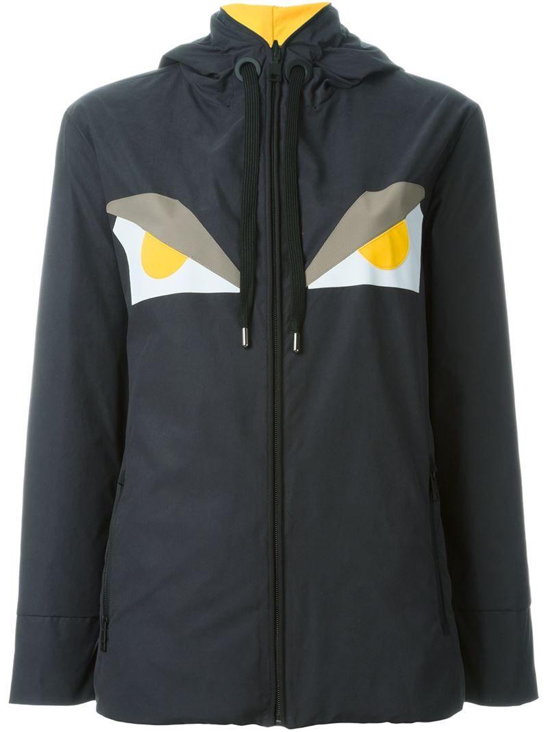 ec1cfe20fc22 Fendi Bag Bugs reversible jacket, Women s, Size  42, Black, Polyester