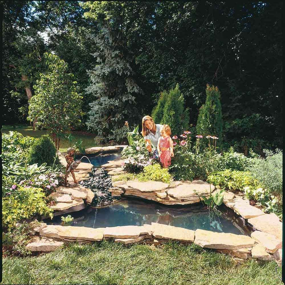 Build this attractive backyard waterfall in less than a ...