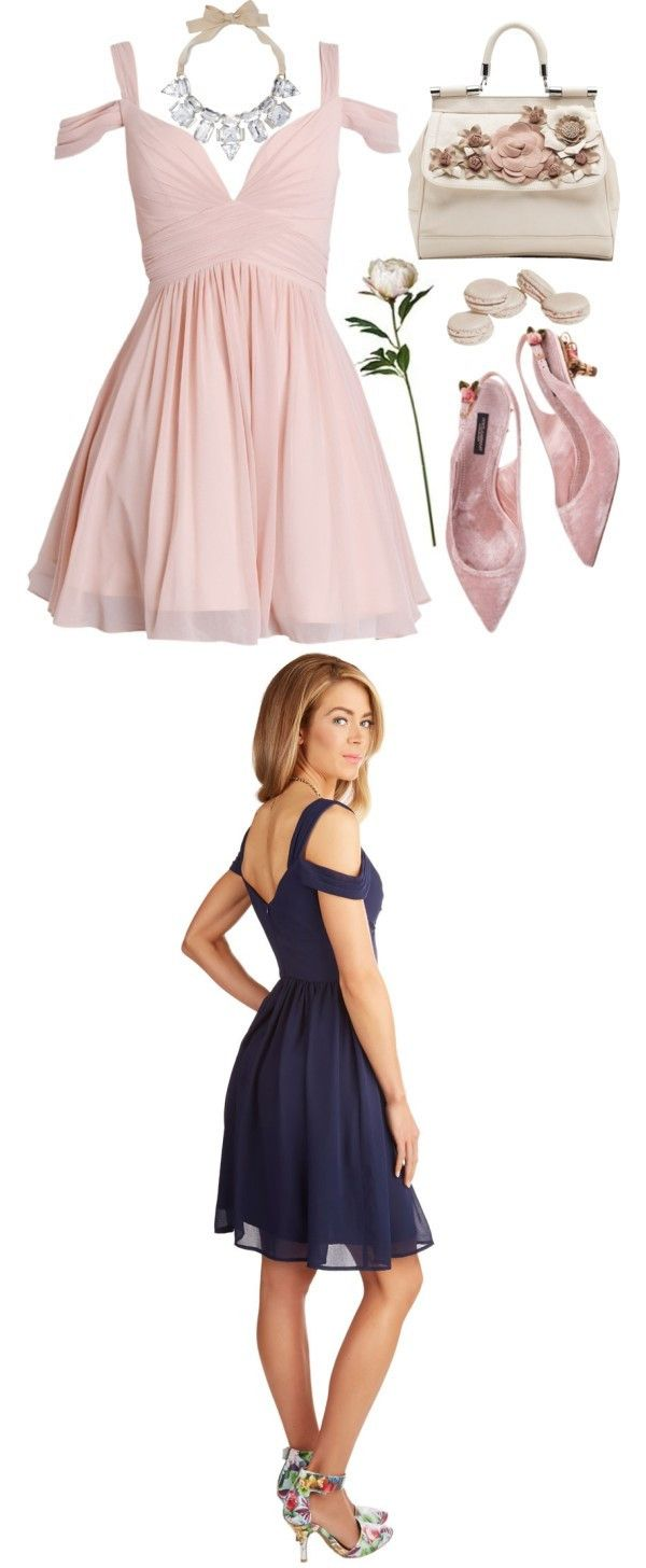 Cute aline short chiffon pink homecoming dress from dreamdressy in
