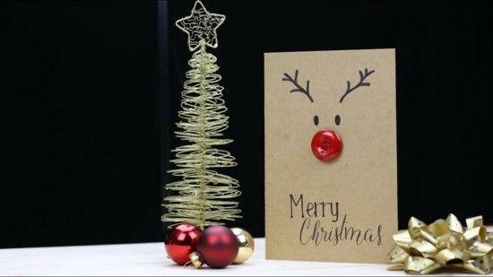65 Ideen Fur Weihnachtskarten Selber Basteln Christmas Diy