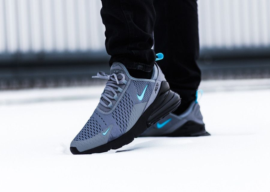Nike Air Max 270 Cool Grey Blue Fury | Chaussure nike homme ...