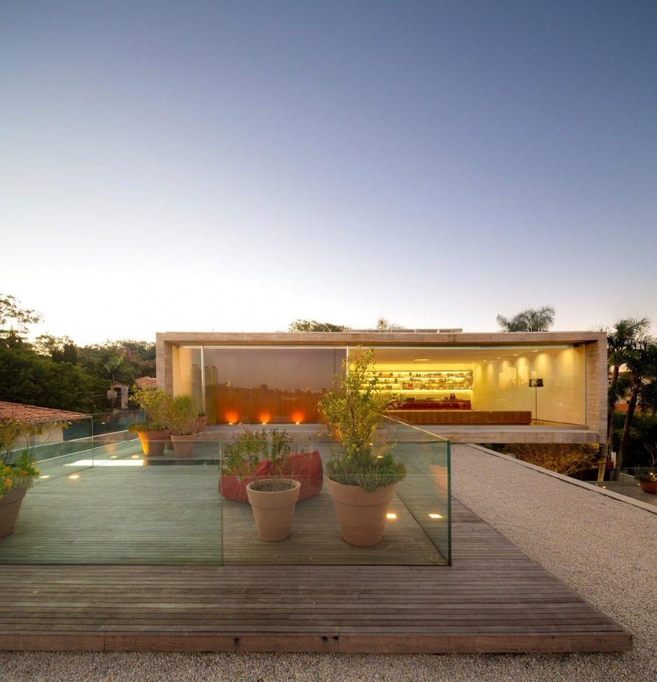 Open layout house concept by studio mk27 - Casa P By Studio Mk27 Glass Balustradeopen Layoutmodern
