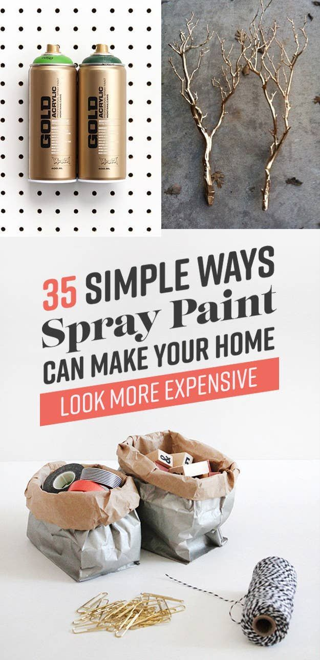 35 Simple Ways Spray Paint Can Make Your Home Look More Expensive