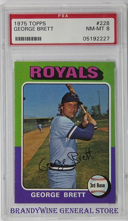 1975 George Brett Topps Rookie Baseball Card Baseball Cards