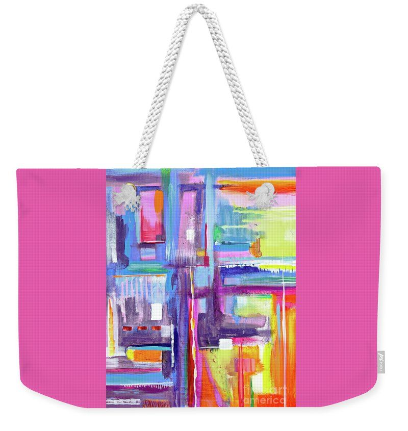 A Scape. New Series Begins Here.and The Title Eyedropper Weekender Tote Bag featuring the painting Eye Dropper by Expressionistartstudio Priscilla-Batzell
