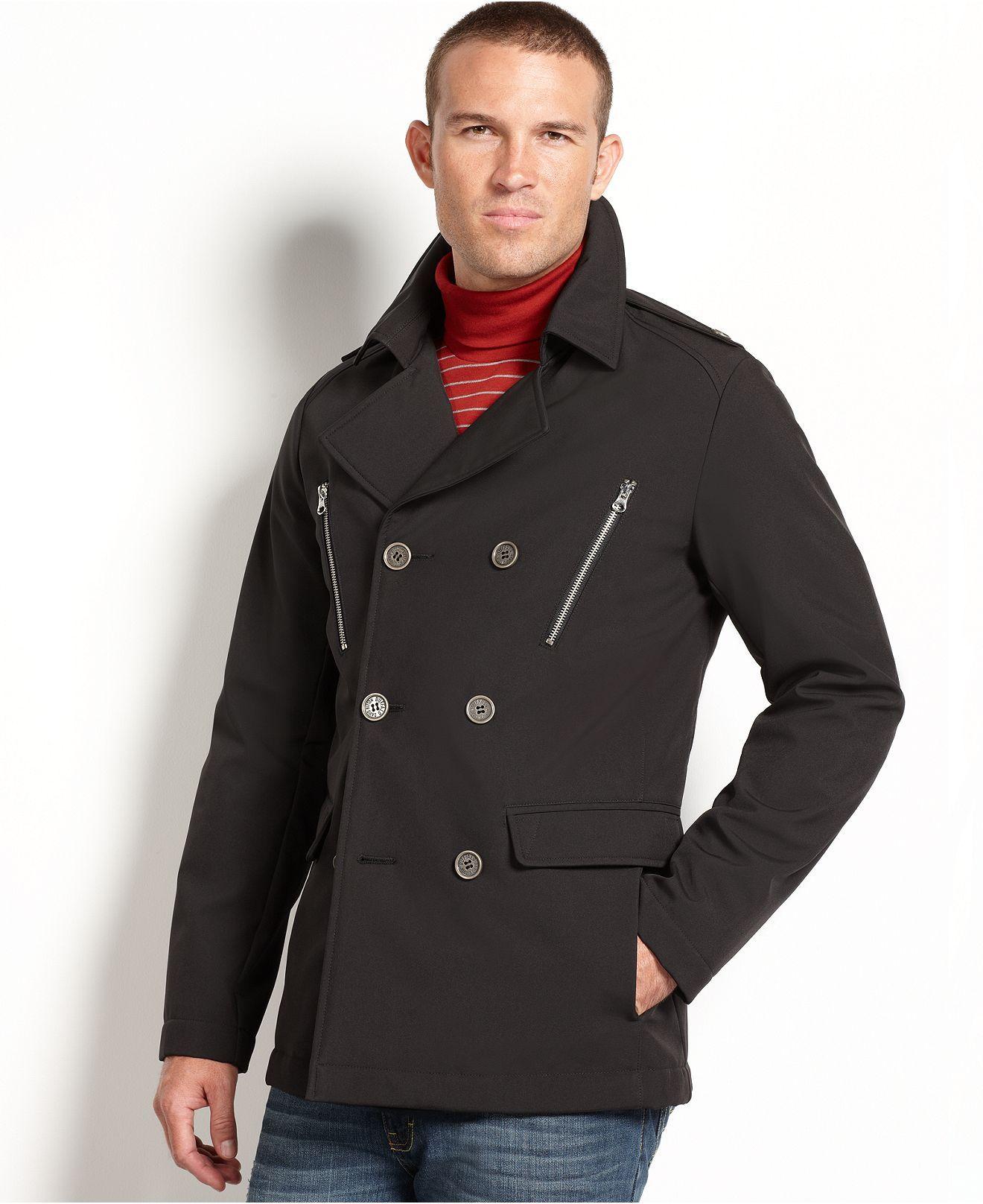 Buffalo David Bitton Jacket Soft Shell Double Breasted Jacket Coats Jackets Men Macy S Double Breasted Jacket Jackets Double Breasted [ 1616 x 1320 Pixel ]