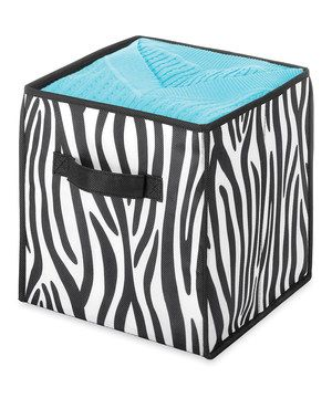 Incroyable Zebra Collapsible Storage Cube By Whitmor #zulily #zulilyfinds