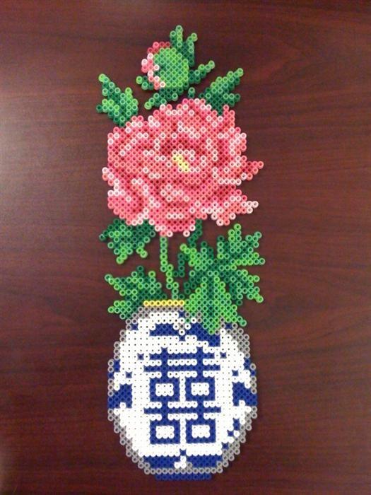 Flower Vase Perler Beads By Megan T Perler Gallery Beads