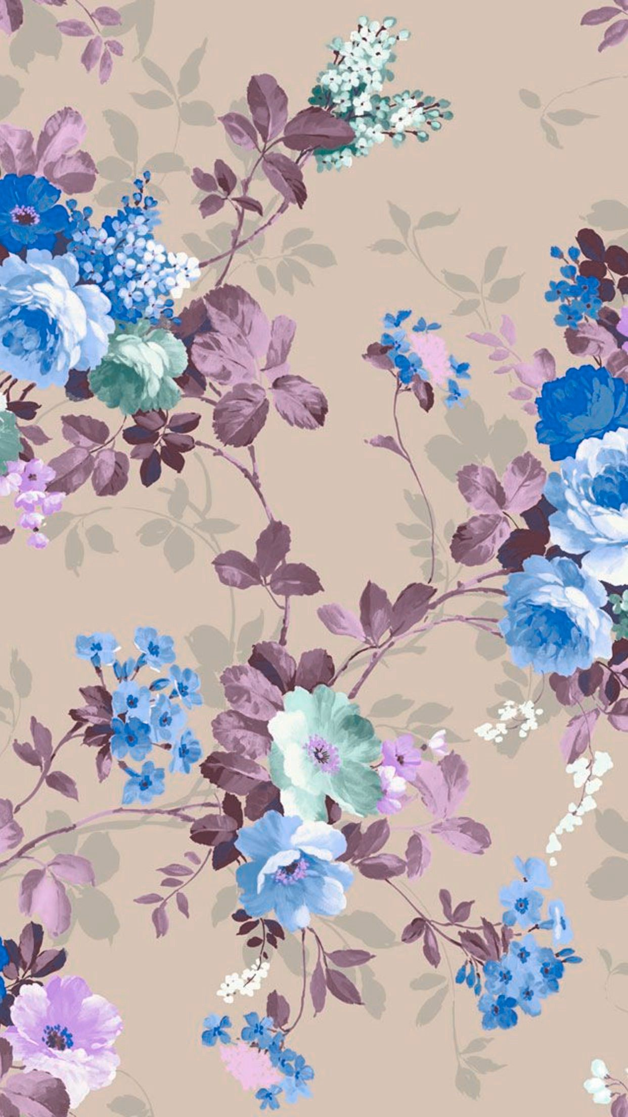 Iphone Wallpapers Floral Backgrounds Flower Paper Scrapbook Vintage Google Search Color Wallpaper