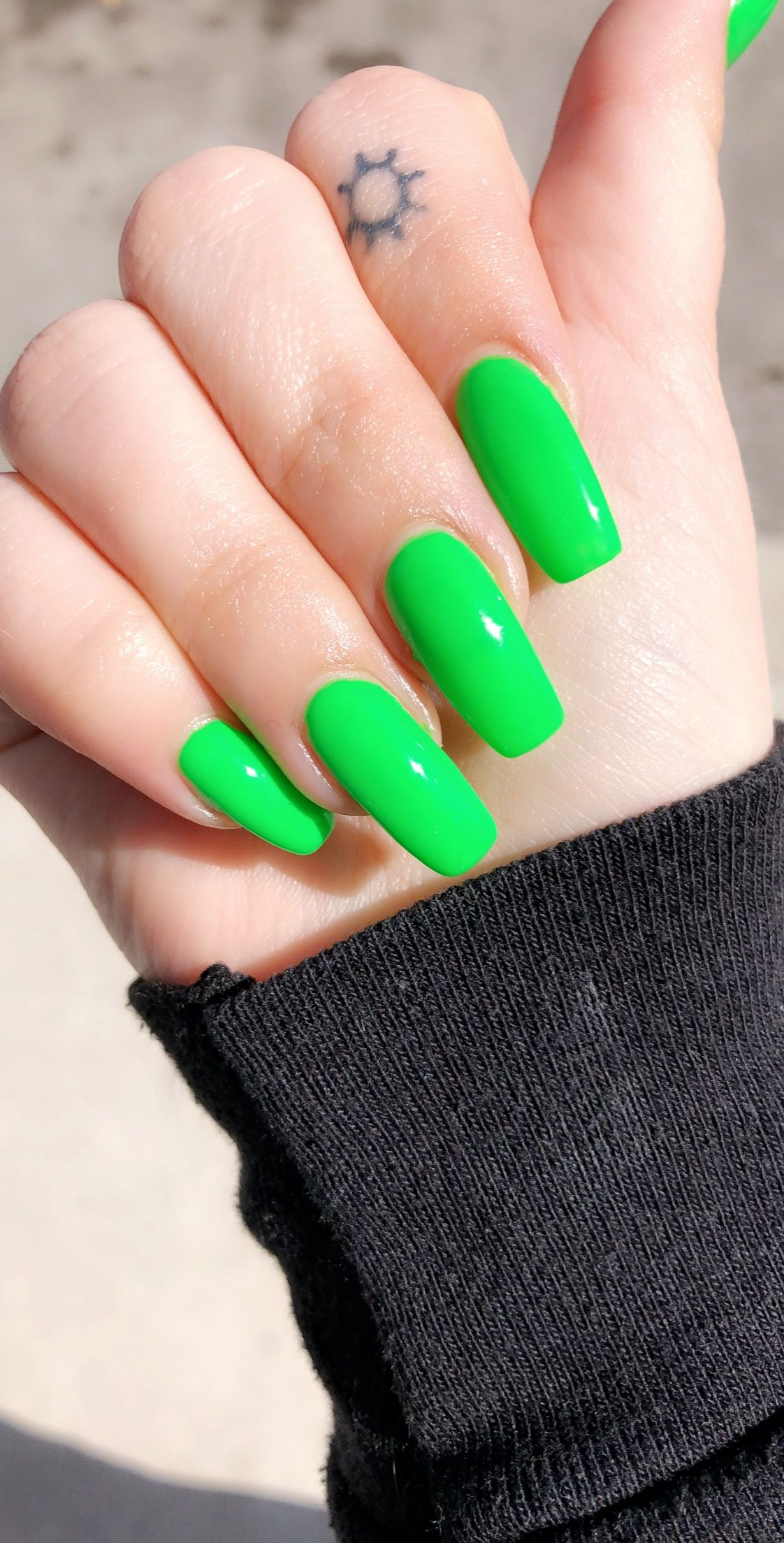 Lime Green Acrylic Nails Nails In 2019 Acrylic Nails Bright