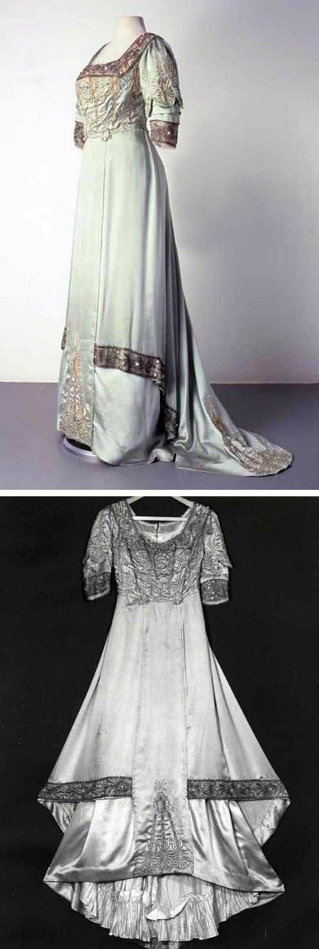 Evening dress, 1910. Silk satin and tulle with embroidery and beadwork. Centraal Museum, Utrecht