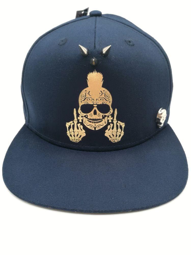 Baseball Cap Men Women Youths New Skull And Spike Snapback Hat ... 6581d3b7730