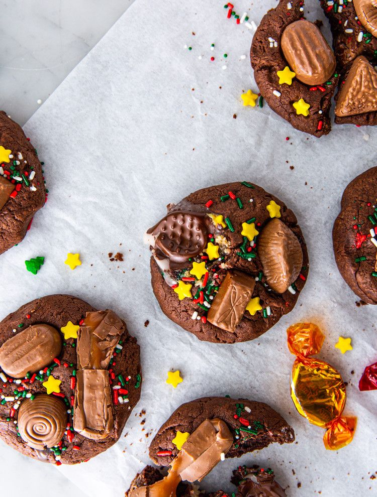 Our Easy 3 Step Quality Street Cookie Recipe Cosmopolitan Uk Cookie Recipes Tray Bakes Cookies