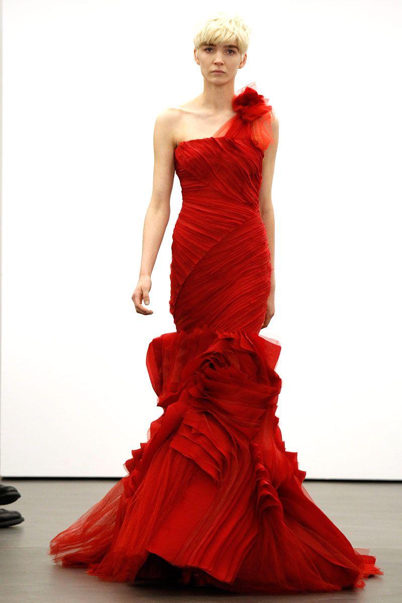 Red wedding dresses vera wang  Vera Wang Bridal primaveraverano   Vera wang bridal