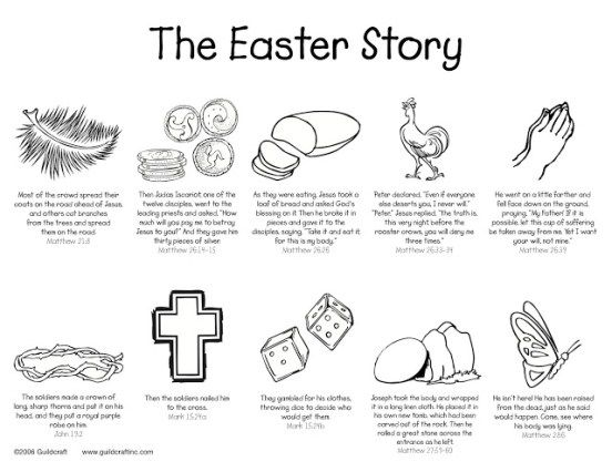 The Easter Story Printable W O Images Of Christ