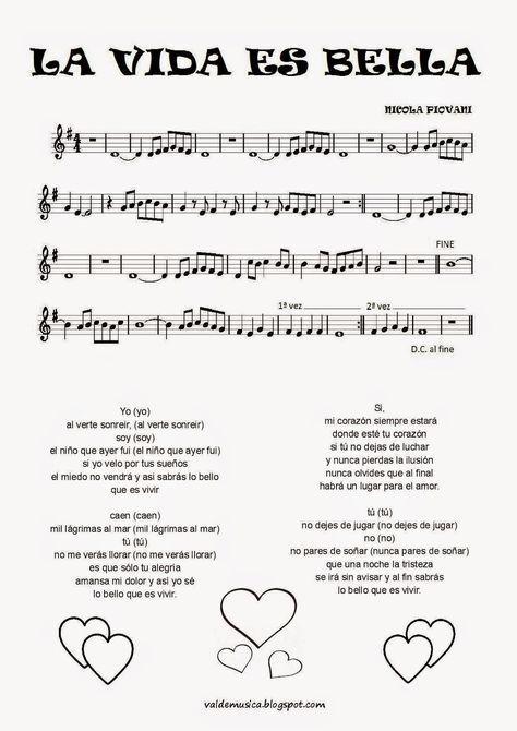 Canciones Que Hicieron Historia X La Vida Es Bella Con Imágenes Música Divertida Musica Partituras Educacion Musical