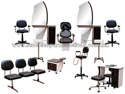 Equipos completos y paquetes de muebles para esteticas y for Muebles de salon completos