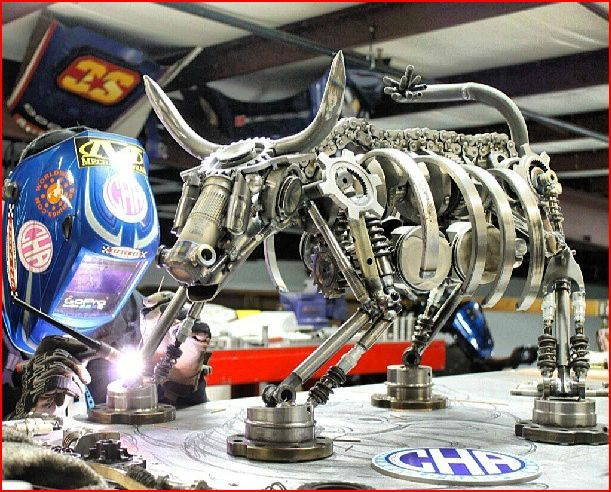 Cold Hard Art Makes Art Out Of Used Race Car Parts Metal Art