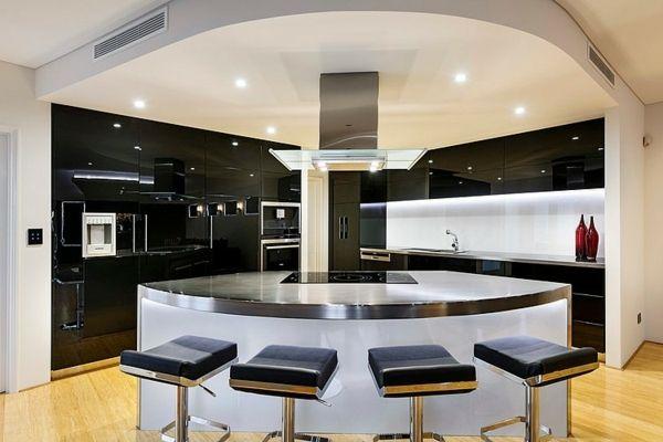 modernes architektenhaus - luxuriöse küche Küche Pinterest - offene küche trennen