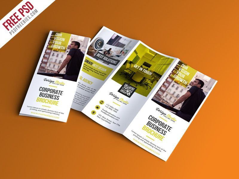 Free Psd Professional Trifold Brochure Psd Template Psd