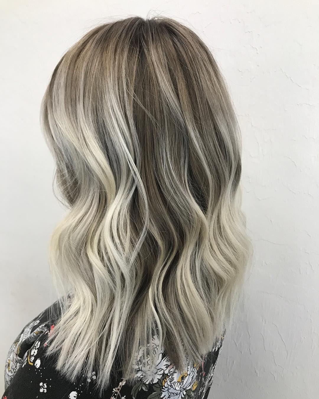 Cool Icy Blond Balayage Long Hair Styles Hair Styles Balayage